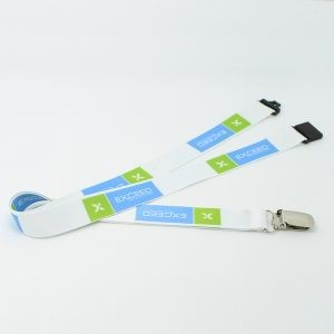 Screen Print / Sublimated Lanyard with Safe Lock